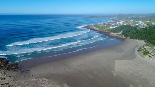 View of Balura River mouth and Beach near Balugha River Estate
