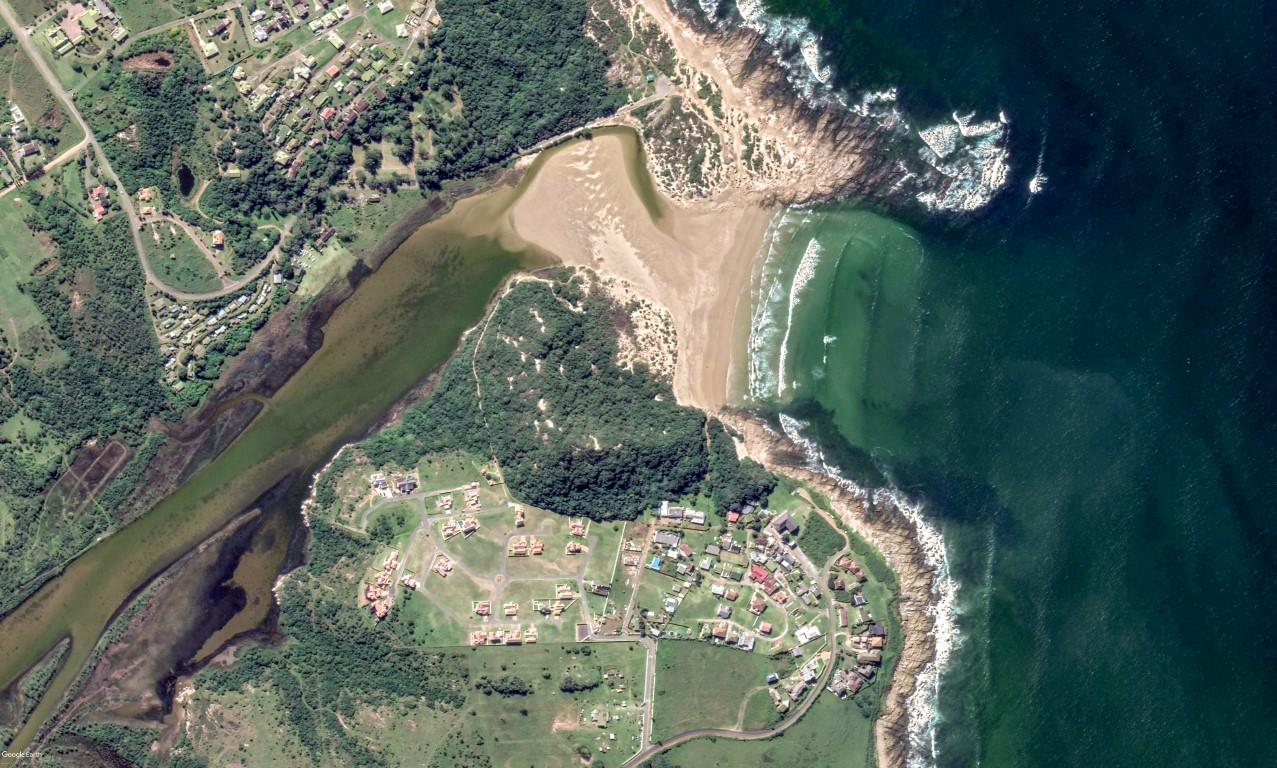 Satelite Photograph of the Balugha River Estate, Balura River, river mouth and beach