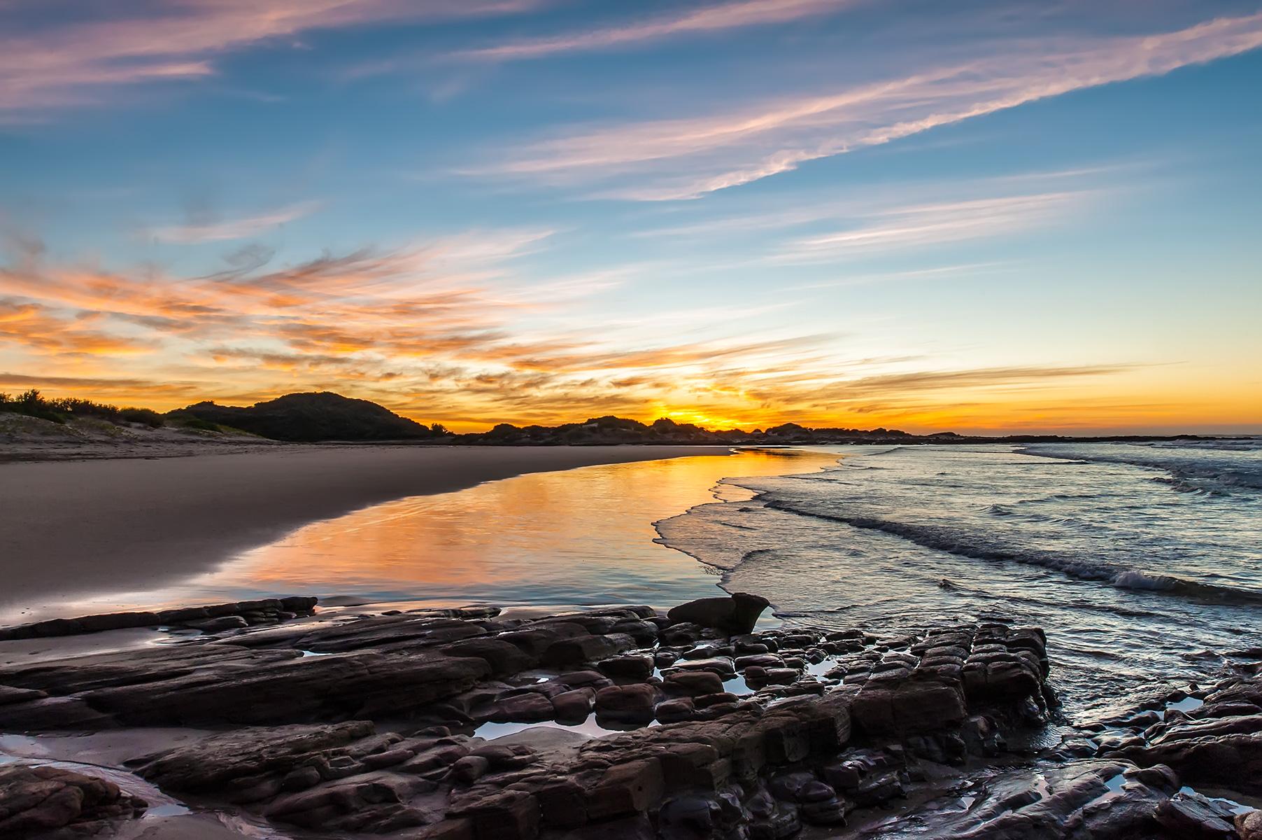 Sunset over Balugha Beach